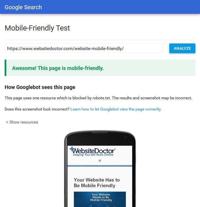 Gogle allows you to check if your site is mobile friendly